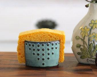 Charmant Kitchen Sponge Holder   Ceramic Card Holder   Aqua Mist   Geometric  Bohemian Modern Home Decor   MADE TO ORDER