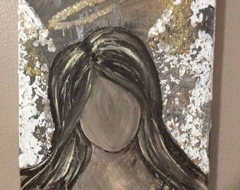 Acrylic painting of Angel