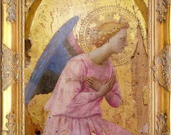 Gorgeous Angel Art Print, Fra Angelico Adoration, Framed, Print on Canvas