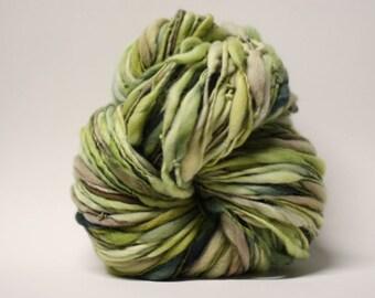 Merino Thick and Thin Handspun Wool Yarn Slub  tts(tm) Hand dyed Half-Pounder xLR 1507x