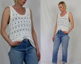 Vintage Crochet Sweater Tank