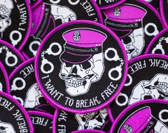 I want to break free 72mm sew on patch