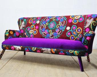 Suzani 3-seater sofa - winter sun