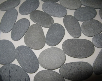 "30 Smooth Beach Stones 2"" to 2 1/2"" Smooth, Flat,Oval Beach Rocks, Baby Shower, Guest Book Alternative,Wedding Stones, Wedding Decor"