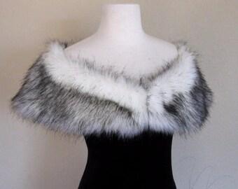 Arctic Fox Bridal Shawl