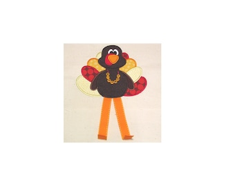 Turkey Legs Applique Design - Instant EMAIL With Download - 3 sizes - for Embroidery Machines