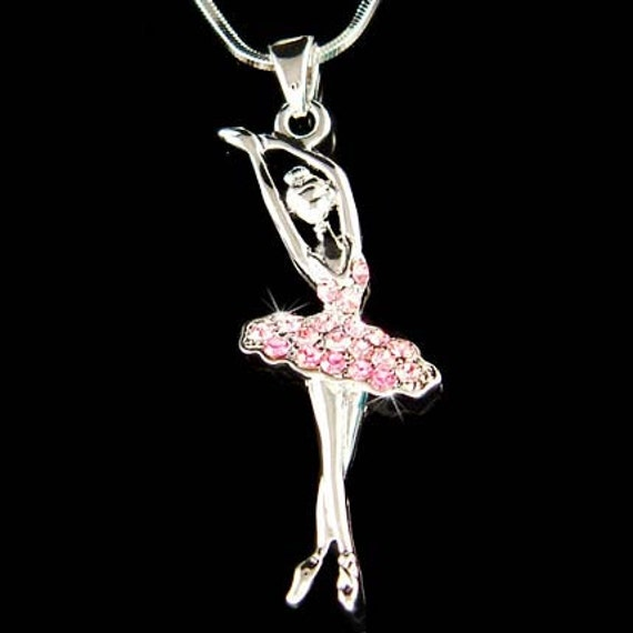 Pink swarovski crystal ballerina ballet dance girl dancer like this item mozeypictures Image collections