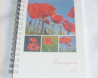"""Taschenkalender 2018 10, 5 x 14, 8 cm """"Mangel an Mohn"""" auf Befehl"""