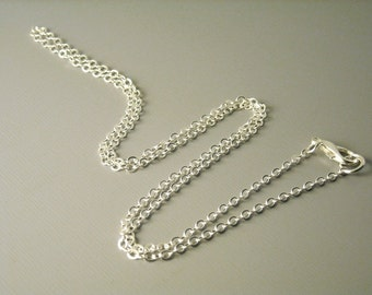 CHAIN-SILVER-2.5MMx2MM - High Quality Silver Plated Chain, 2.5mm x 2mm - 5 pcs  - Choose your length