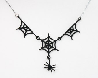 3D PRINTED Spider Web Necklace