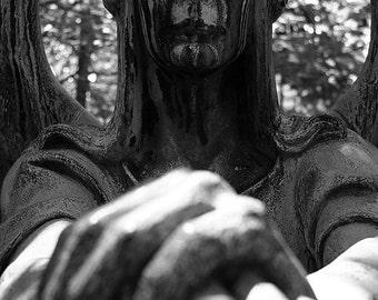 Haserot Angel of Death Gravestone Lake View Cemetery Photo Print