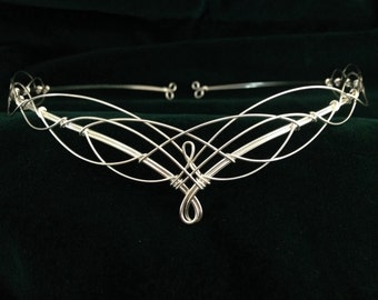 Circlet Headpiece Elven Wedding Tiara Crown Medieval
