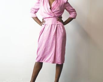 80s does 40s | Vintage Pink Dress