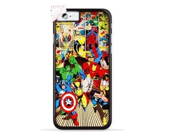 The Avengers iPhone 7 Case / iPhone 7 Plus Case , iPhone 8 / iPhone 8 Plus Case Captain America Iron Man Spiderman Wolverine Thor & Hulk