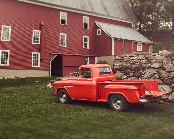Classic Truck Photo, Farm Image, Art, Photography, Country Scene, Country Home Decor, Rustic Print, Fine Art Print