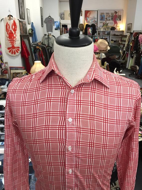 Red and White Men's Thomas Pink Dress Shirt