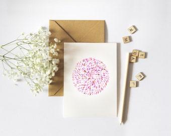 Colour Wheel Greeting Card