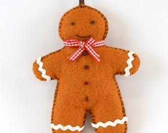 Mini gingerbread snowman felt kit