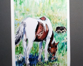 Horse Painting, Horse Watercolor Painting, Horse Original Painting, horse wall art, horse artwork, horse decor, horse gifts, equine painting