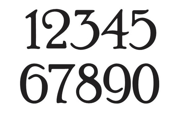 number stencil 2 poor richard font numbers 0 9 for