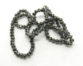 1 Strand Glass Faceted Rondelle Beads 3mm (B507f7)
