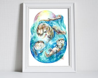 Print ~ River Otters