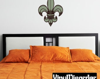 Fleur Delis Wall Decal - Wall Fabric - Vinyl Decal - Removable and Reusable - FleurDeLisUScolor003ET