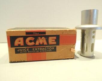 Juice Extractor, Acme, aluminum, in Original Box, vintage