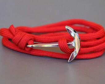 anchor bracelet Paracord nautical bracelet, beach bracelet