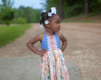 Baby Amsterdam Dress, Top, Romper and Skirted Romper PDF Sewing Pattern, including sizes newborn - 4 years, Baby Pattern