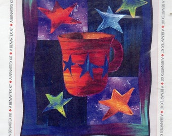 """JAVA GALAXY QUILTED Wall Hanging Pattern 28"""" X 33"""""""