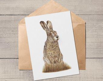 Hare Card Blank Animal Artist Card