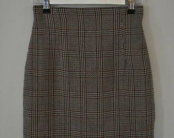 BUTTERCUP MINI SKIRT | 90's  skirt | plaid skirt | pencil skirt | small