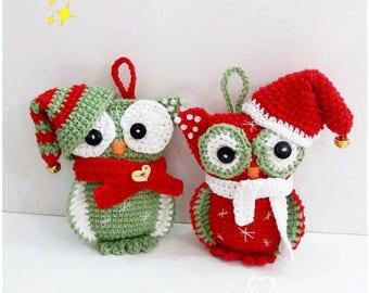 Amigurumi Pattern Christmas Owl, in PDF
