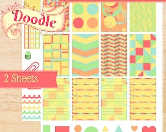 Abstract | Big Happy Planner Stickers | Happy Planner Stickers | Big Stickers | Create 365 Stickers | MAMBI Stickers