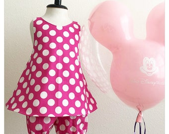 Miinie Mouse Set- Cute baby clothes - Minnie Mouse Birthday - Girl clothes - Minnie Birthday Outfit -Ready to Ship - Size 4