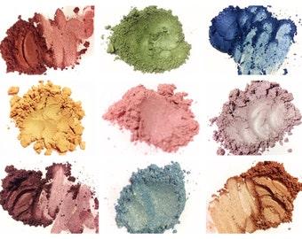 Mineral Makeup Eye Shadow Sample TESTER BAGGIES Pure Mineral Makeup Eye Color Eyeshadow Shimmerals
