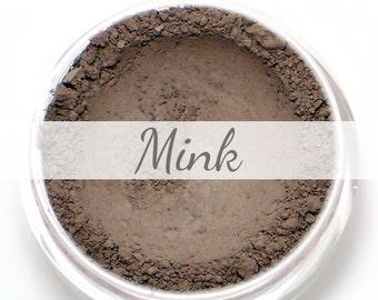 """Eyeshadow Sample - """"Mink"""" - matte dark/deep brown taupe (Vegan) Mineral Makeup Eye Color Pigment"""