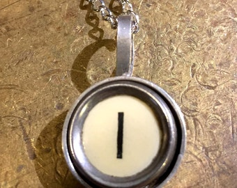 I Typewriter Key Pendant