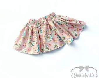 SALE Pink Skirt Girl - Pink Lamb Skirt - Girl Cute Skirt - SALE Skirt Girls Size 18-24m 2T - Ready to Ship - Toddler Infant Kawaii Baby