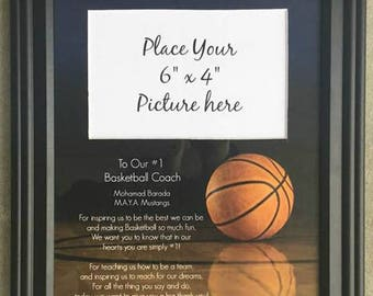 Basketball coach thank you gift personalized picture frame