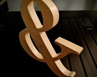 Wooden Ampersand - Freestanding Wooden Letters