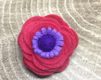 Felt Brooch - Red Hat Society