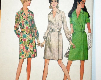 """Vintage, 1960s, Sewing Pattern, McCall's 9236, Wrap Around, Dress, MIsses', Size 14, Bust 36"""", 1960s Pattern, OLD2NEWMEMORIES"""