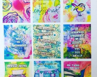 Original art work stickers