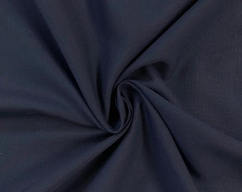 Navy Blue Chiffon Fabric Polyester All Solid Colors Sheer 58'' Wide By the Yard for Garments, Decoration, Crafts