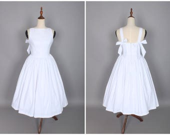Madeline Dress in Solid White