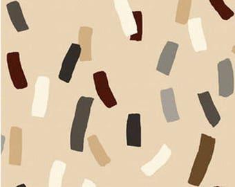 beige patchwork Dwellings, BENARTEX fabric