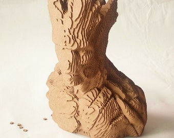 Groot Bust    - DIY Cardboard Sculpture