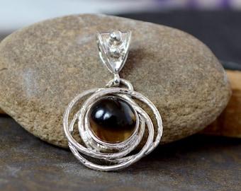 Best Price Natural Smoky Quartz Handmade Silver Pendant, Smoky Quartz Necklace for her
